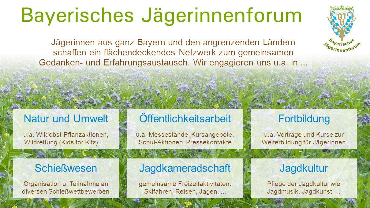 Natur und Umwelt u.a. Wildobst-Pflanzaktionen, Wildrettung (Kids for Kitz),...