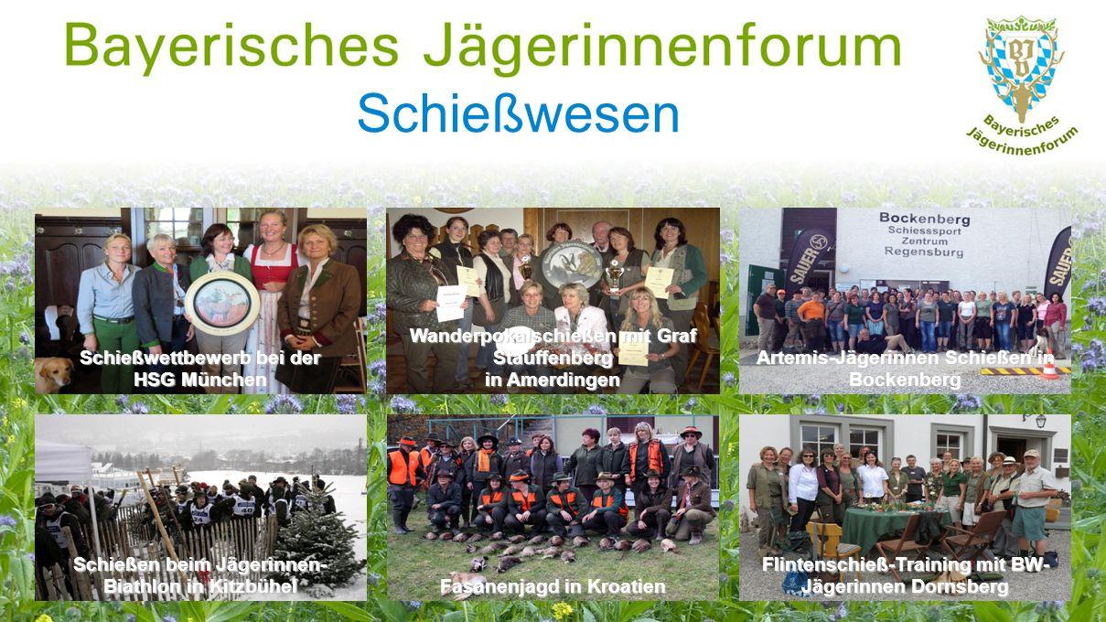Fortbildung Herbstforum: Wildbret – gesundes Lebensmittel Rotwildseminar in Oberbayern Motorsägekurs in Niederbayern Herbstforum der Bayerischen Jägerinnen vom 14.