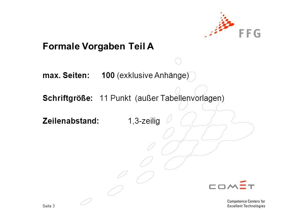 Seite 3 Formale Vorgaben Teil A max.