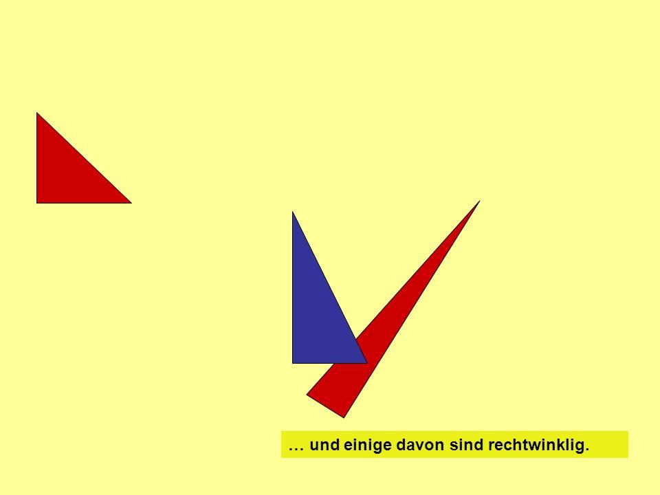 a b c Die Seiten a und b bilden den rechten Winkel (90 °) Die Seite c liegt dem rechten Winkel gegenüber … … und ist die längste Seite.