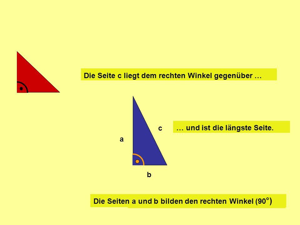 =c 2 +b 2 a2a2 Ja, sieh Dir das Gitternetz an: Und jetzt noch die Teile von a 2 …