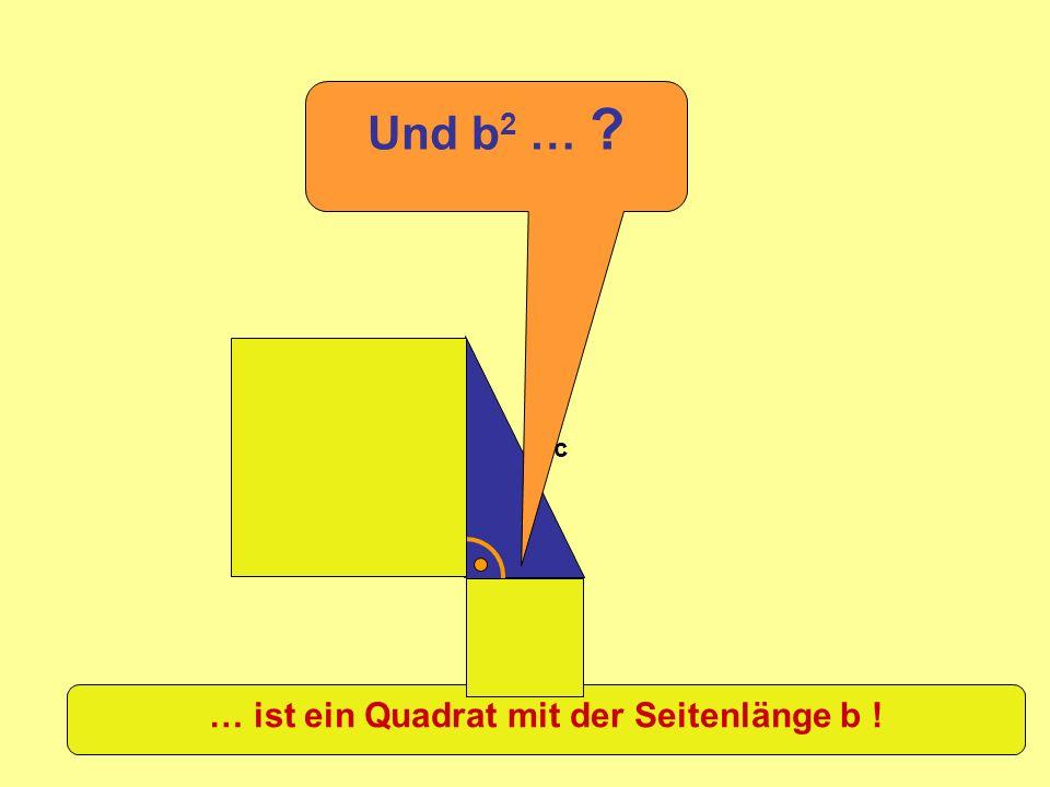 a b c Und b 2 … ? … ist ein Quadrat mit der Seitenlänge b !