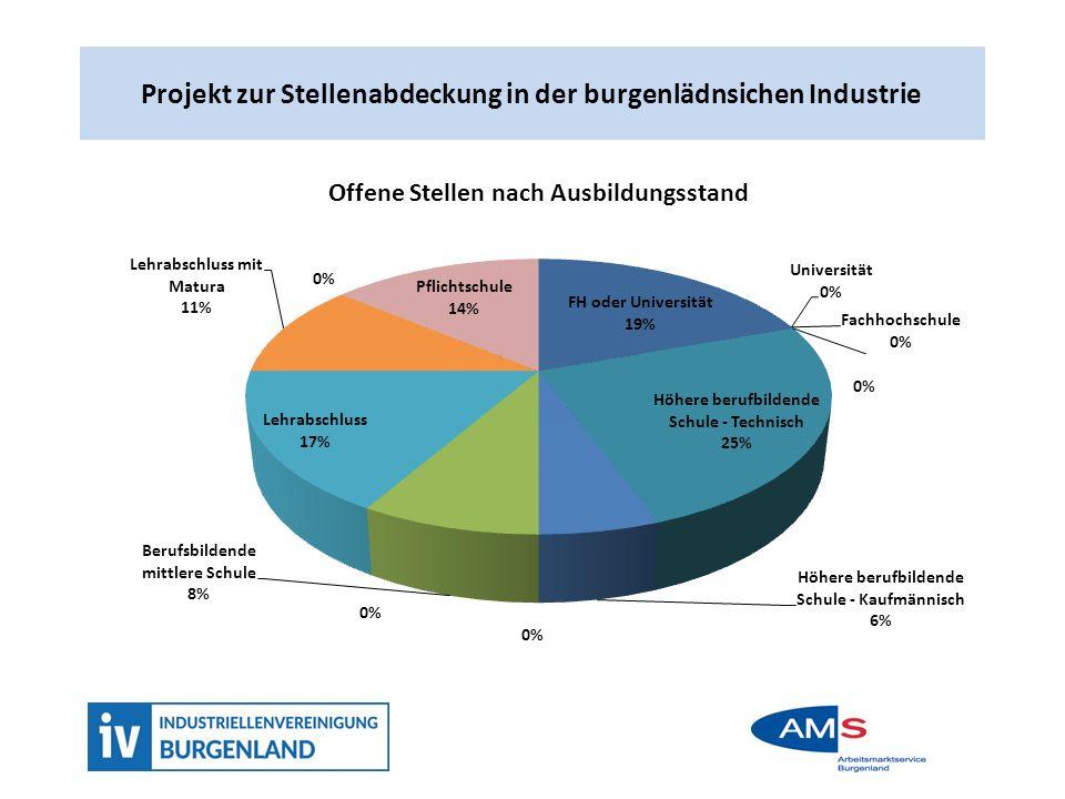 Projekt zur Stellenabdeckung in der burgenländischen Industrie