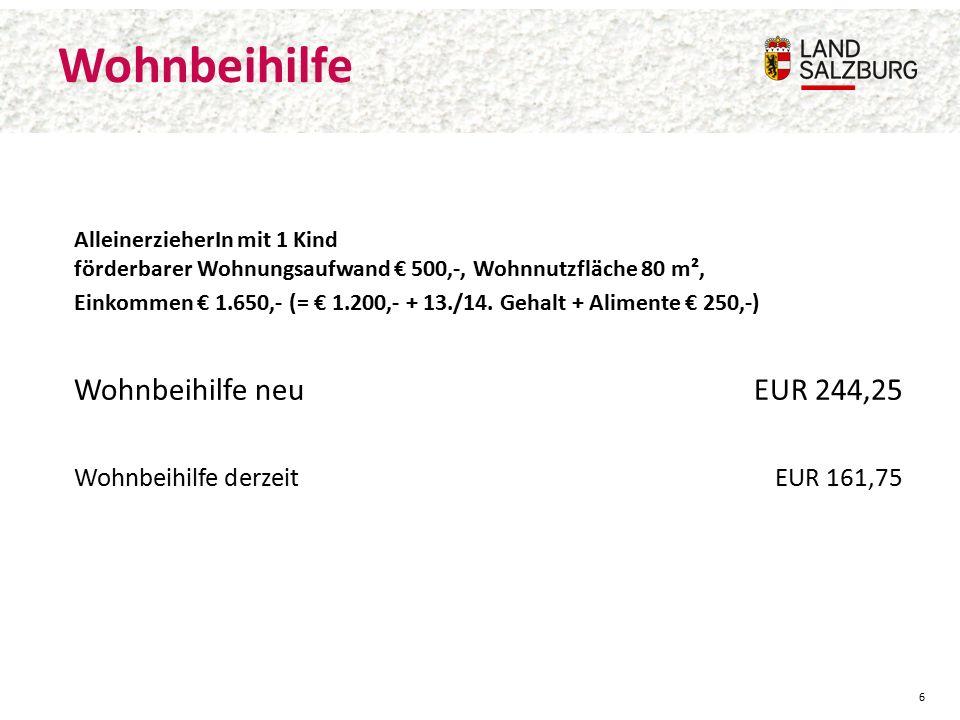 Mietenkalkulation alt/neu Nettomiete (ohne EVB) Neubauprojekt Straßwalchen: altneu 1.