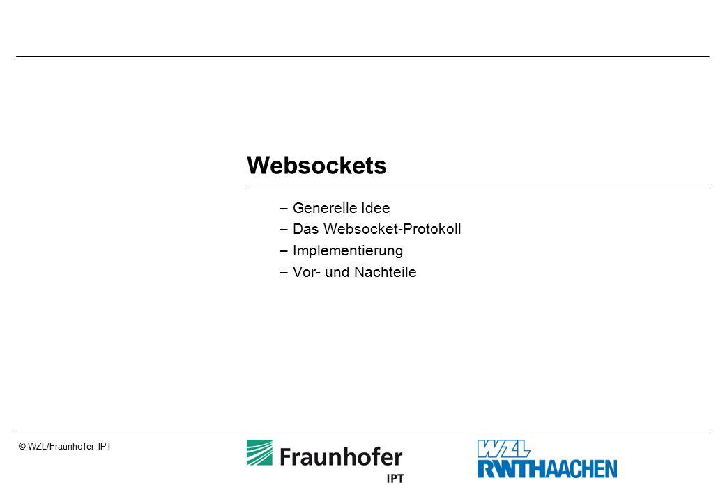 © WZL/Fraunhofer IPT Websockets –Generelle Idee –Das Websocket-Protokoll –Implementierung –Vor- und Nachteile