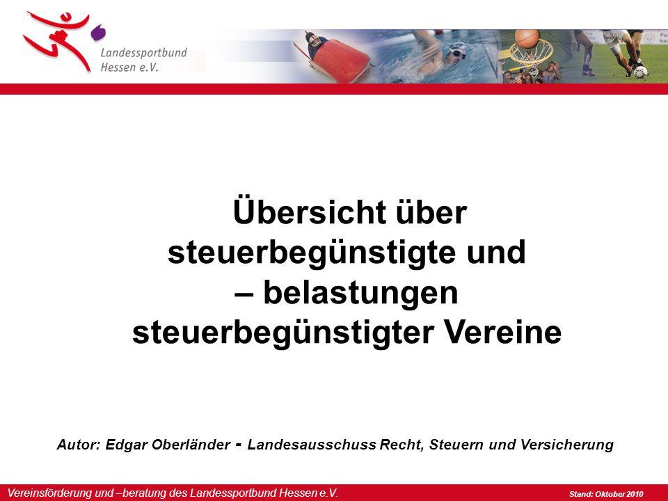 Vereinsförderung und –beratung des Landessportbund Hessen e.V.