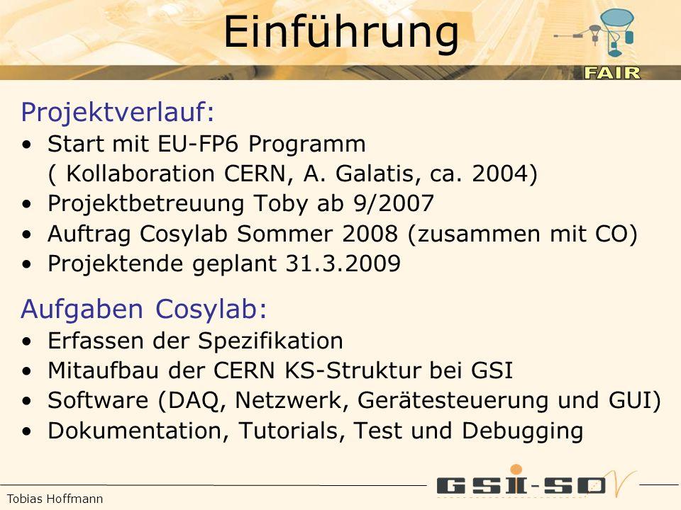 Tobias Hoffmann Einführung Projektverlauf: Start mit EU-FP6 Programm ( Kollaboration CERN, A.
