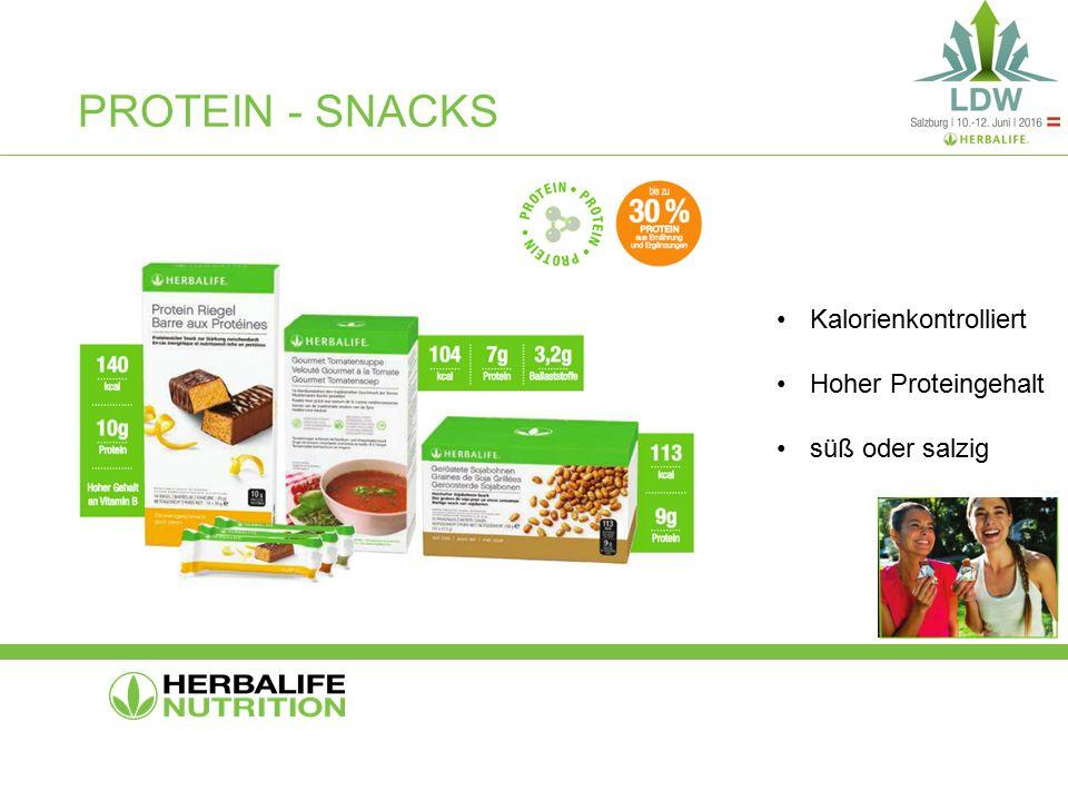 PROTEIN - SNACKS Kalorienkontrolliert Hoher Proteingehalt süß oder salzig