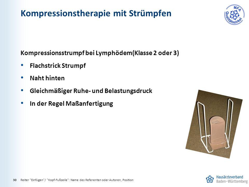 Kompressionstherapie mit Strümpfen Reiter