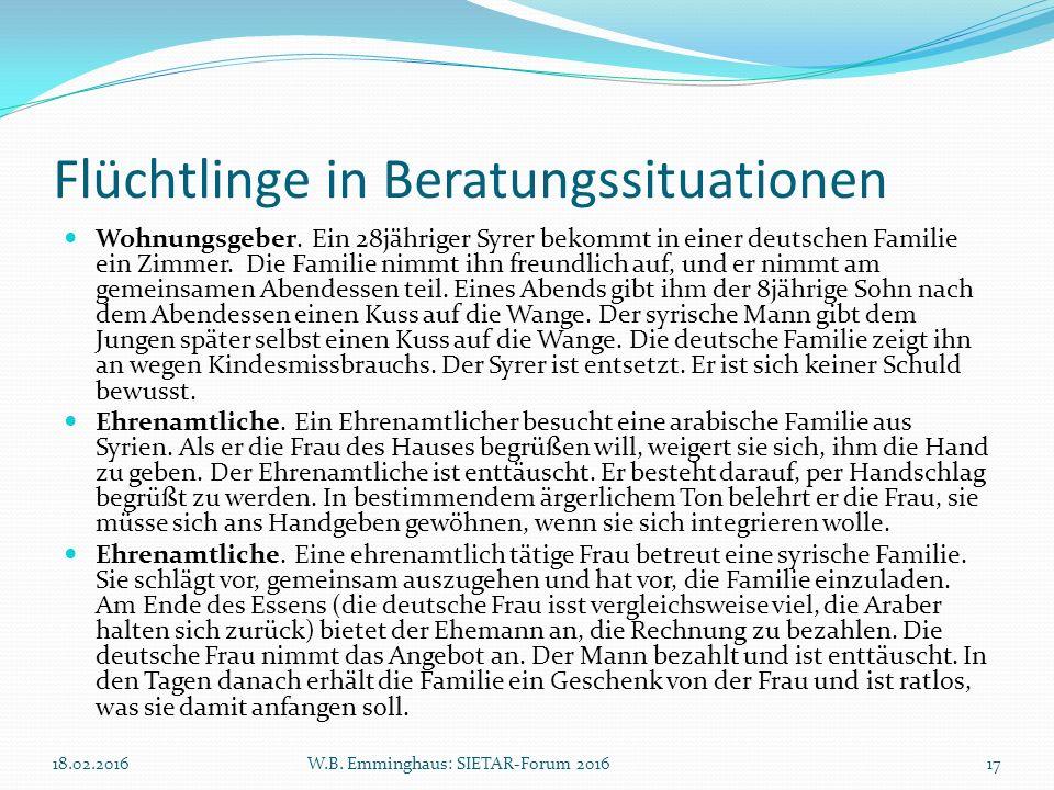 Flüchtlinge in Beratungssituationen Wohnungsgeber. Ein 28jähriger Syrer bekommt in einer deutschen Familie ein Zimmer. Die Familie nimmt ihn freundlic