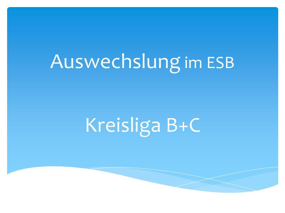 Auswechslung im ESB Kreisliga B+C
