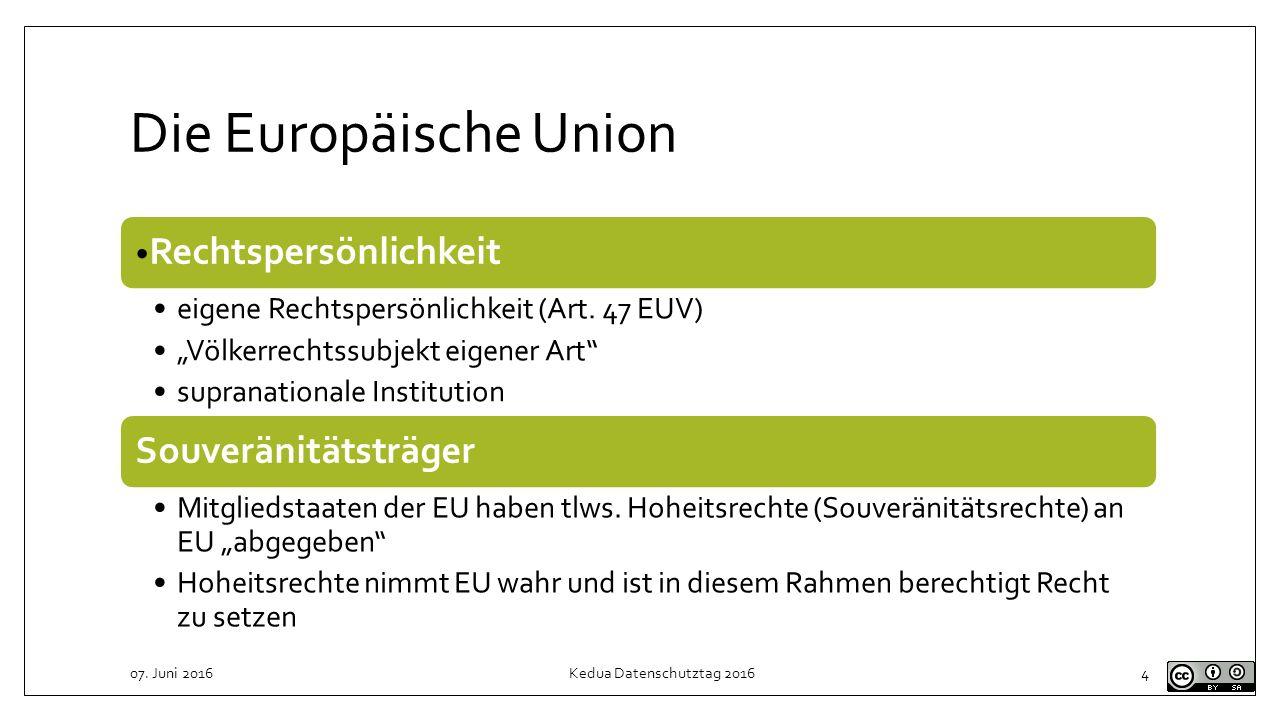 Konsequenzen für Verhältnis deutschen Datenschutzrechts zu DSGVO DSGVO ist immer vor nationalen Regeln anzuwenden Ausnahmen DSGVO räumt europäischem / nationalem Gesetzgeber Gestaltungsspielraum ein z.B.