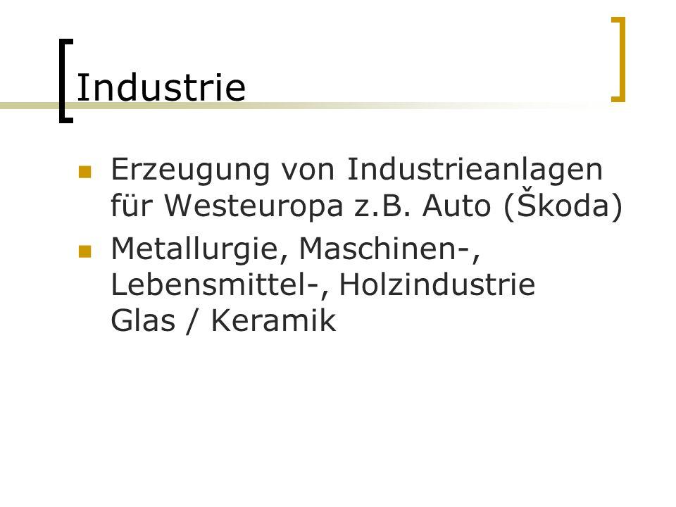 Industrie Erzeugung von Industrieanlagen für Westeuropa z.B.