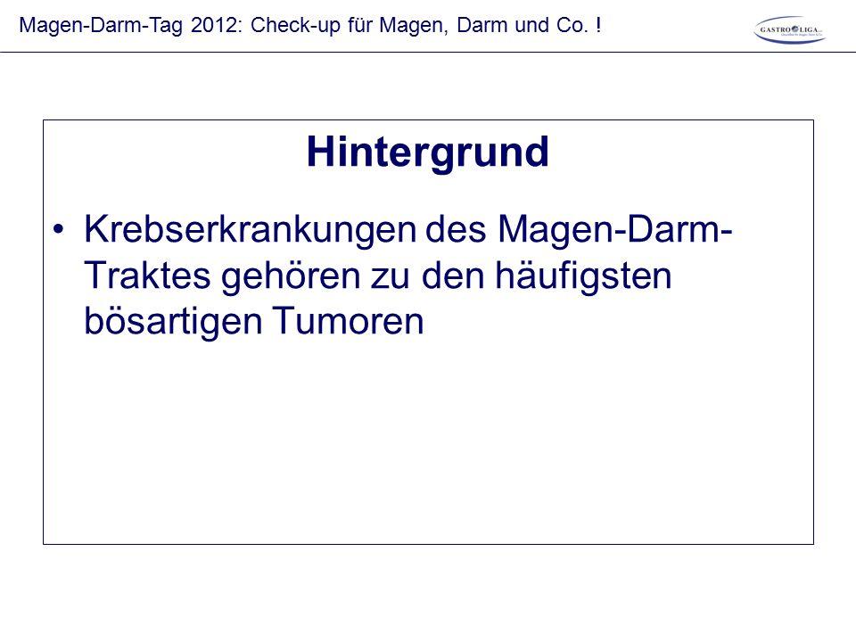 Robert-Koch-Institut 2011 Darmkrebs in Deutschland: Neuerkrankungen und Todesfälle Überlebensraten     47,9% 56,7% 59,5% 57,9%