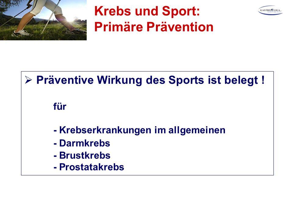  Präventive Wirkung des Sports ist belegt .