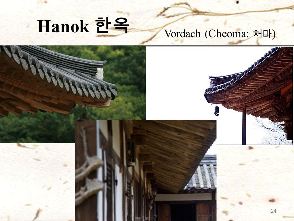 Hanok 한옥 Vordach (Cheoma: 처마 ) 24