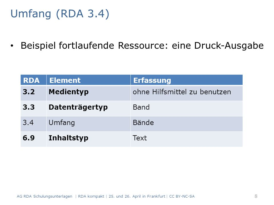 Hochschulschriften Modul 3.03.02 39 AG RDA Schulungsunterlagen | RDA kompakt | 25.