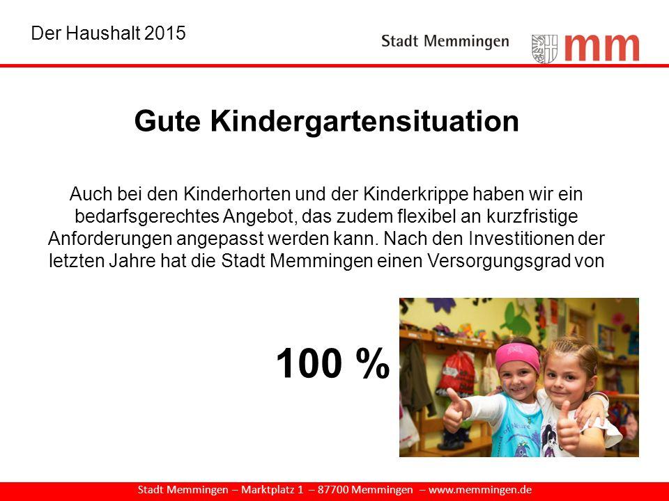 Gute Kindergartensituation Auch bei den Kinderhorten und der Kinderkrippe haben wir ein bedarfsgerechtes Angebot, das zudem flexibel an kurzfristige A