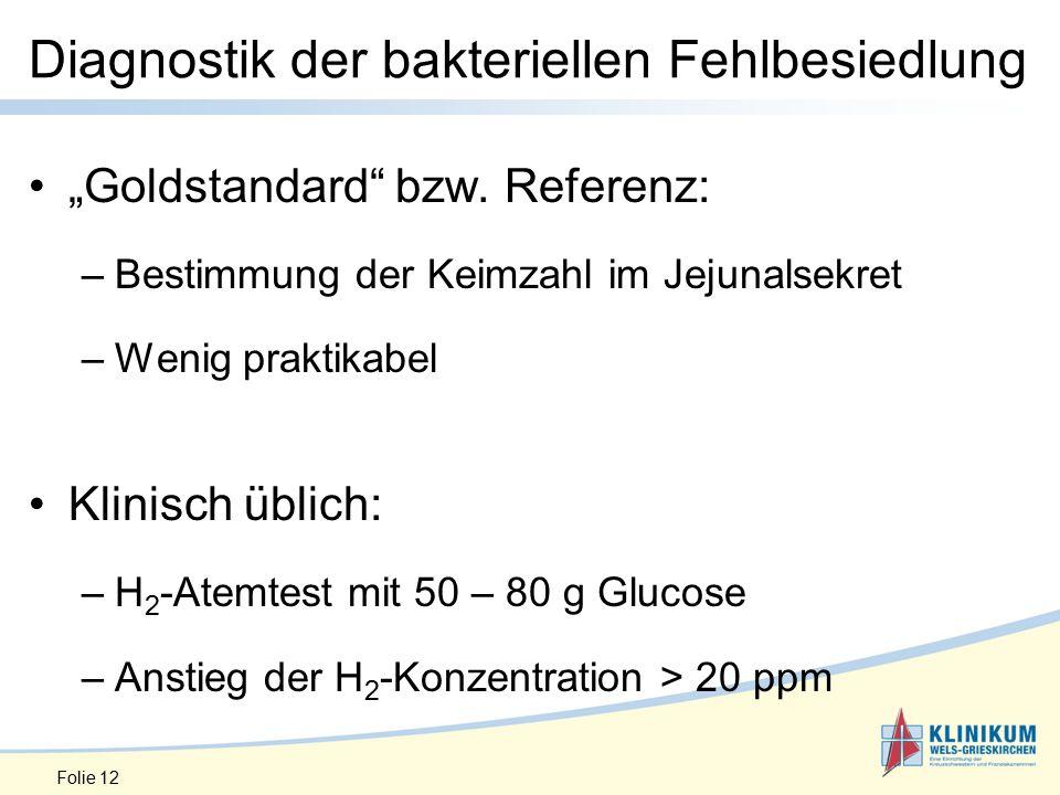 "Diagnostik der bakteriellen Fehlbesiedlung ""Goldstandard bzw."