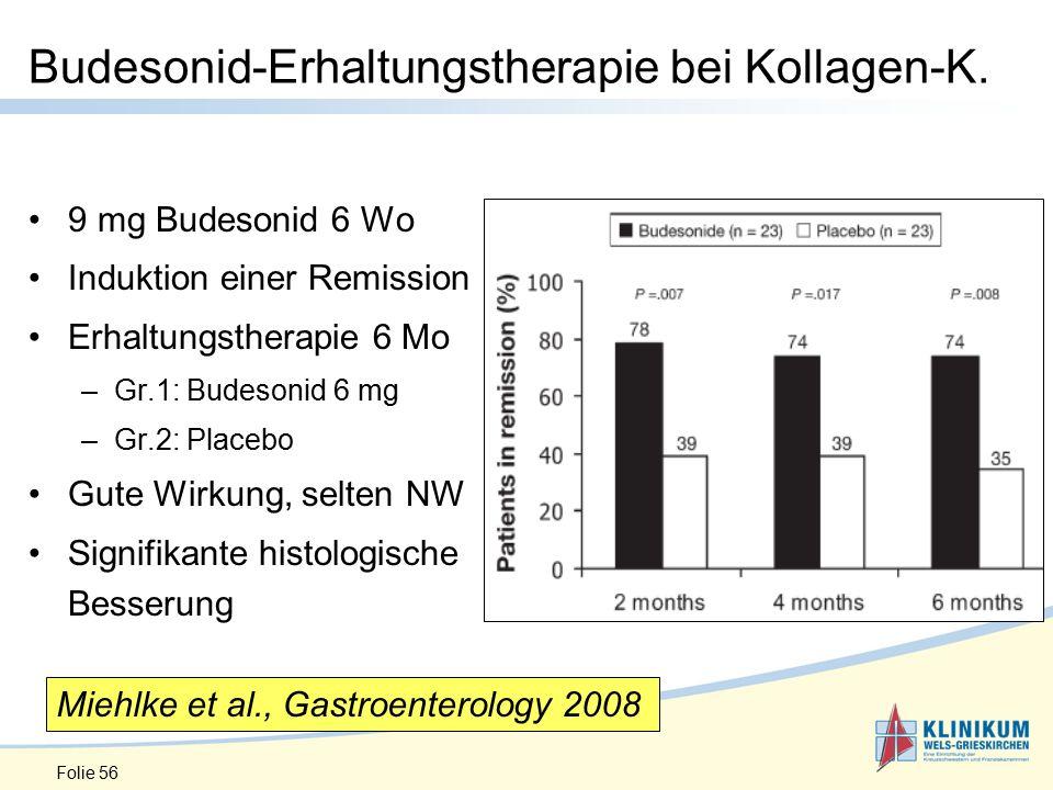 Folie 56 Budesonid-Erhaltungstherapie bei Kollagen-K.