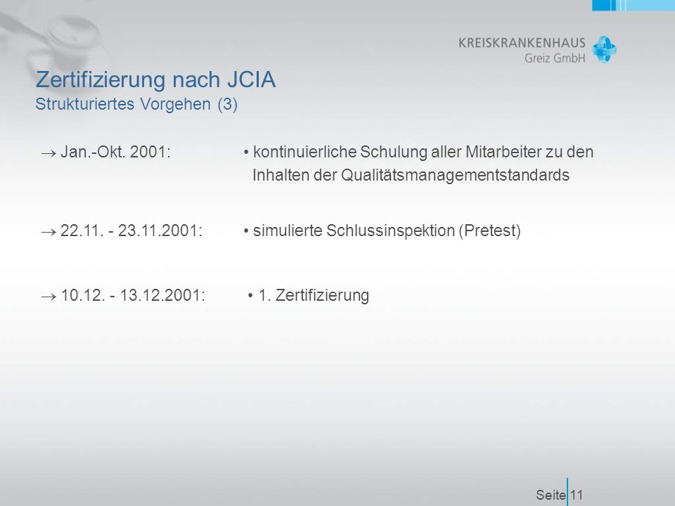 Seite11 Zertifizierung nach JCIA  Jan.-Okt.