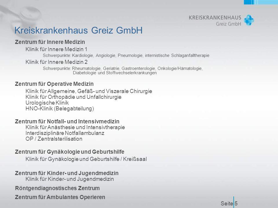 Seite16 Zertifizierung nach JCIA Anweisungen der Kreiskrankenhaus Greiz GmbH  Einheitliche Erstellung und Koordination von betriebsinternen Informationen