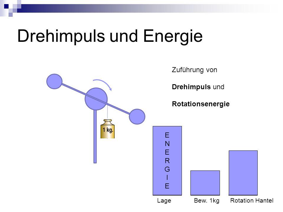 Drehimpuls und Energie Zuführung von Drehimpuls und Rotationsenergie ENERGIEENERGIE Lage Bew.