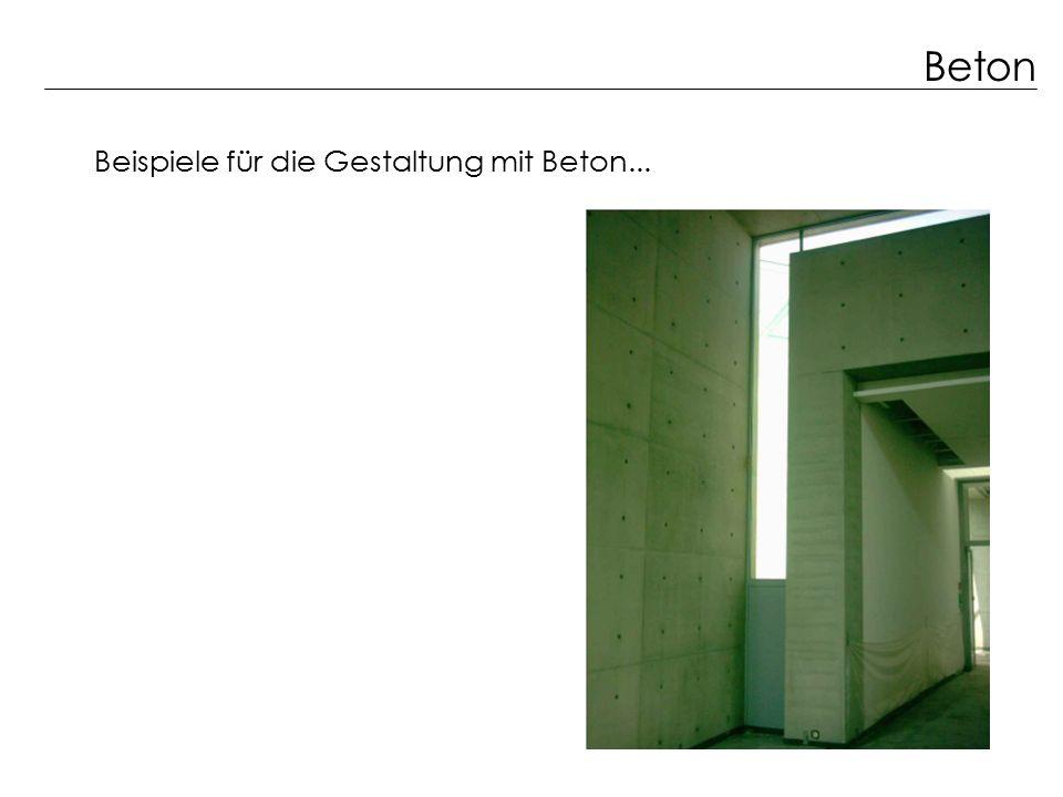 Beton Beispiele für die Gestaltung mit Beton...
