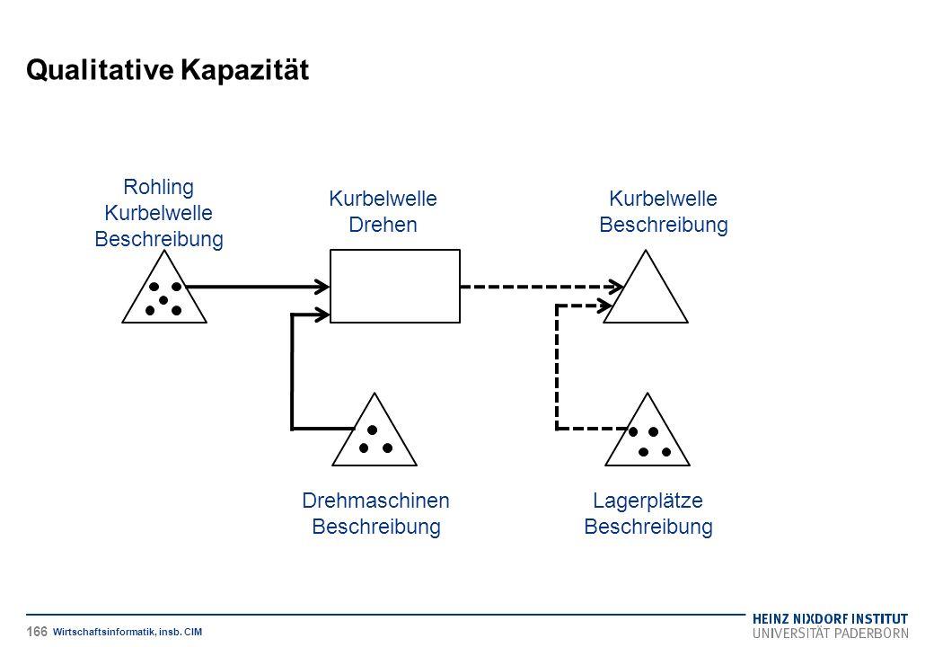 Qualitative Kapazität Wirtschaftsinformatik, insb.