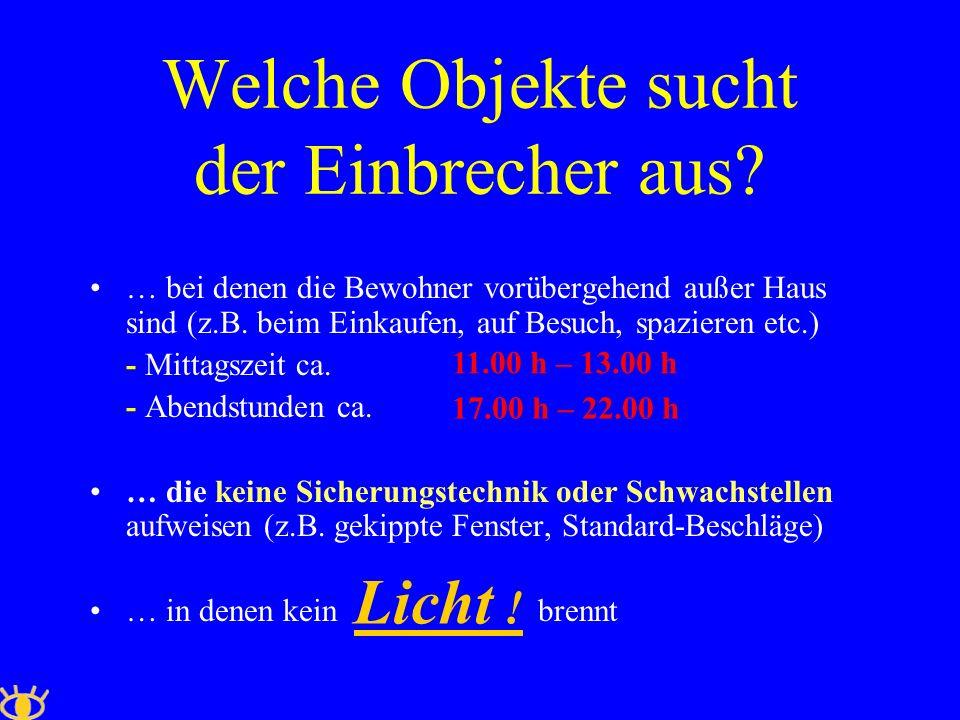 Sicherungsmöglichkeiten Neu – und Umbau: Einbau von einbruchhemmenden Fenstern und Türen gemäß DIN EN 1627 / RC 2 (ehemals: WK 2) Evtl.