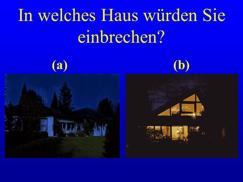 In welches Haus würden Sie einbrechen? (a) (b)