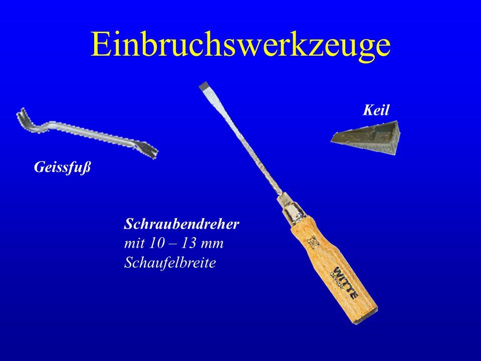 Einbruchswerkzeuge Geissfuß Schraubendreher mit 10 – 13 mm Schaufelbreite Keil