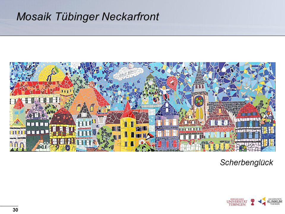 Mosaik Tübinger Neckarfront 30 Scherbenglück