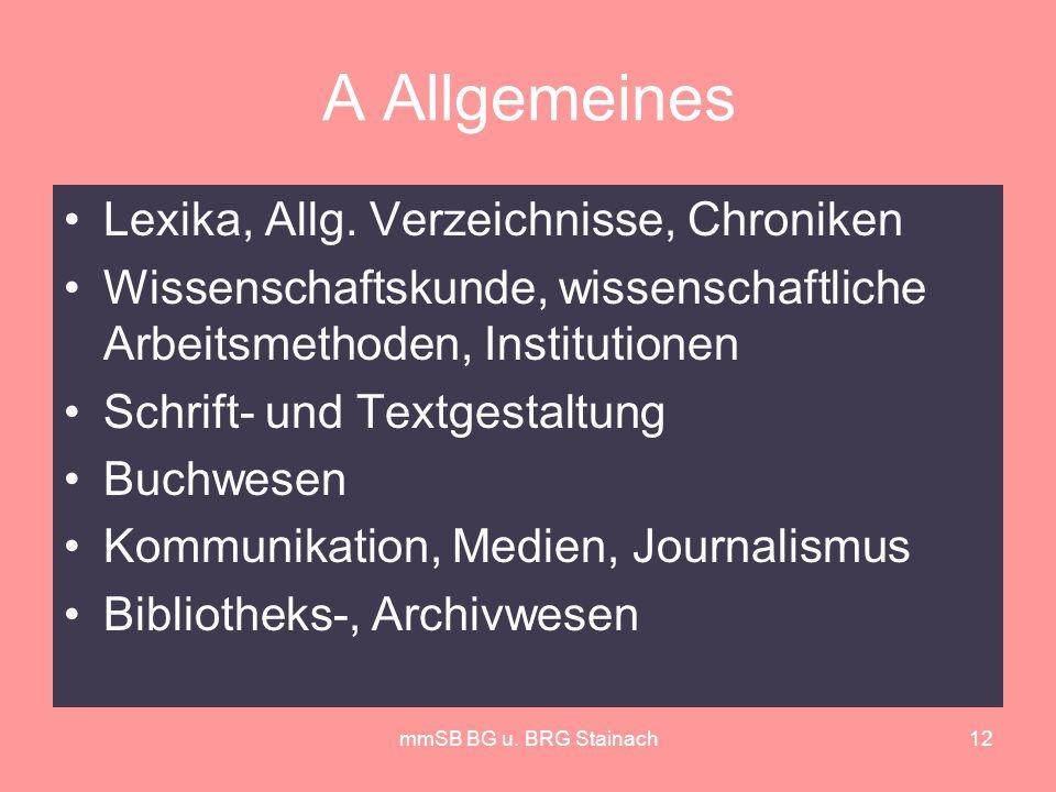 mmSB BG u. BRG Stainach12 A Allgemeines Lexika, Allg.