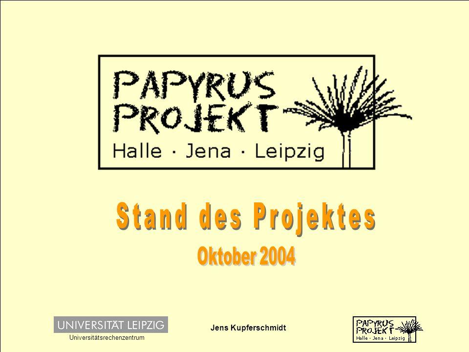 Jens Kupferschmidt Universitätsrechenzentrum Alle Objekte sind in den Besitz der 3 Sammlungen in Halle, Jena und Leipzig.