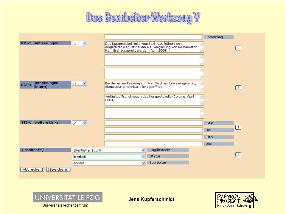 Jens Kupferschmidt Universitätsrechenzentrum