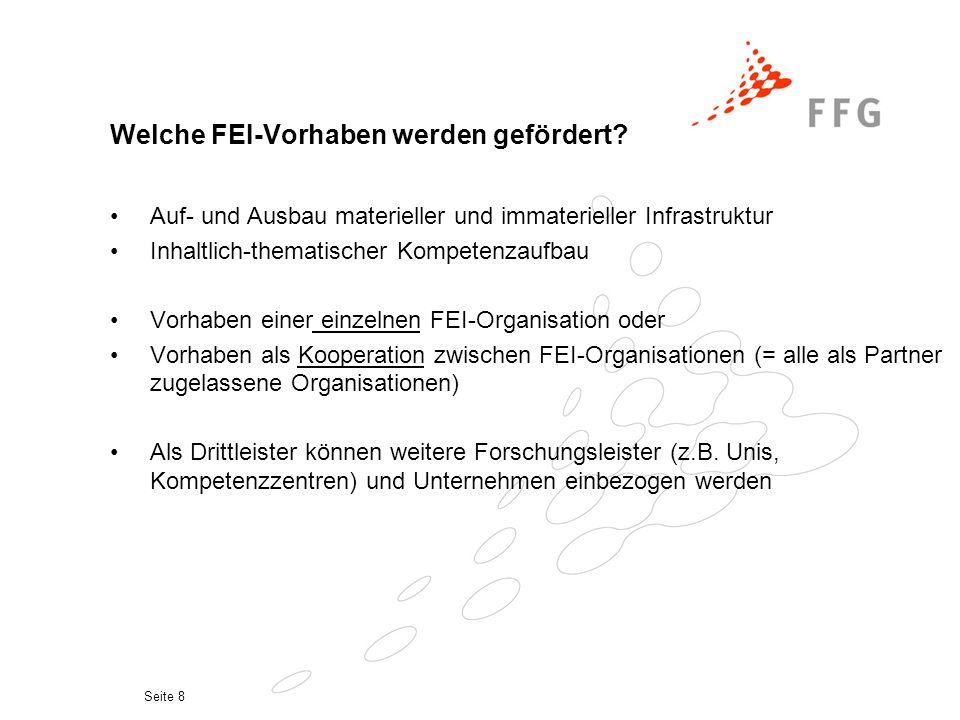 Seite 8 Welche FEI-Vorhaben werden gefördert.