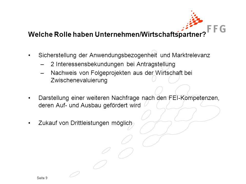 Seite 9 Welche Rolle haben Unternehmen/Wirtschaftspartner.