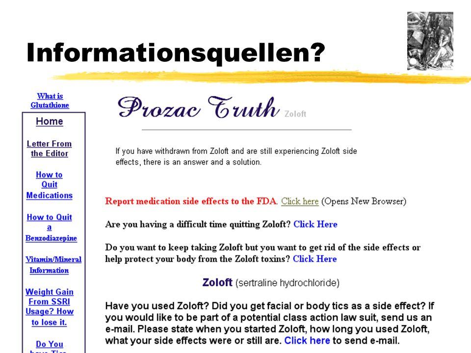31 von 33 22. Januar 2004Dossenheimer Gesundheitsrunde Informationsquellen?