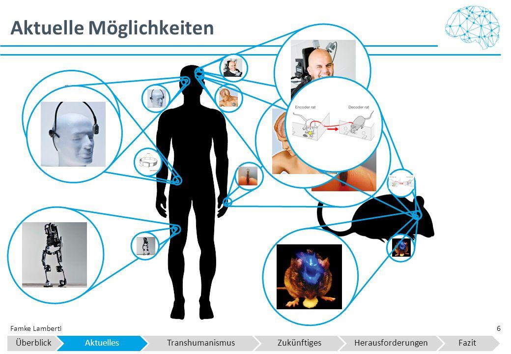 Aktuelle Möglichkeiten 6Famke Lamberti ÜberblickAktuellesTranshumanismusZukünftigesHerausforderungenFazit