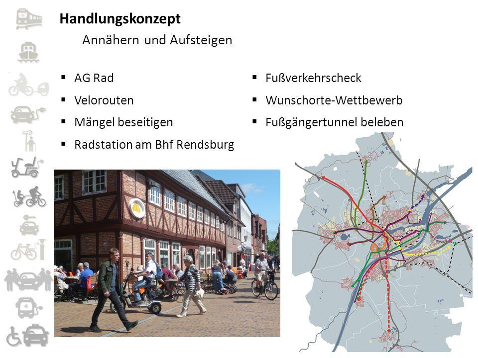  AG Rad  Velorouten  Mängel beseitigen  Radstation am Bhf Rendsburg  Fußverkehrscheck  Wunschorte-Wettbewerb  Fußgängertunnel beleben Handlungs