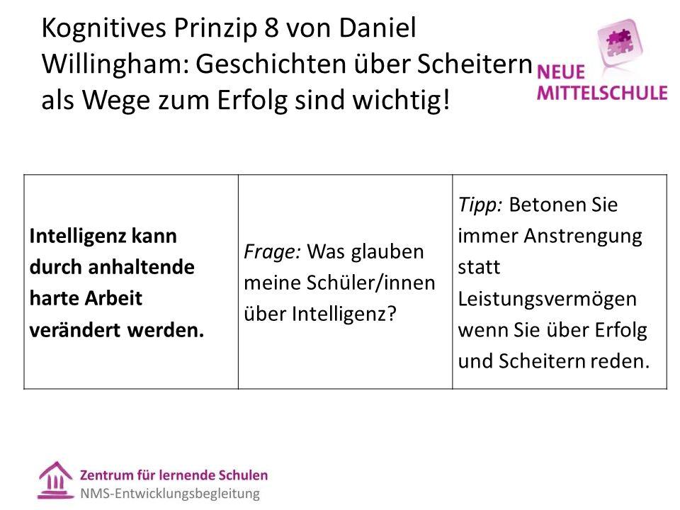 Kognitives Prinzip 8 von Daniel Willingham: Geschichten über Scheitern als Wege zum Erfolg sind wichtig.