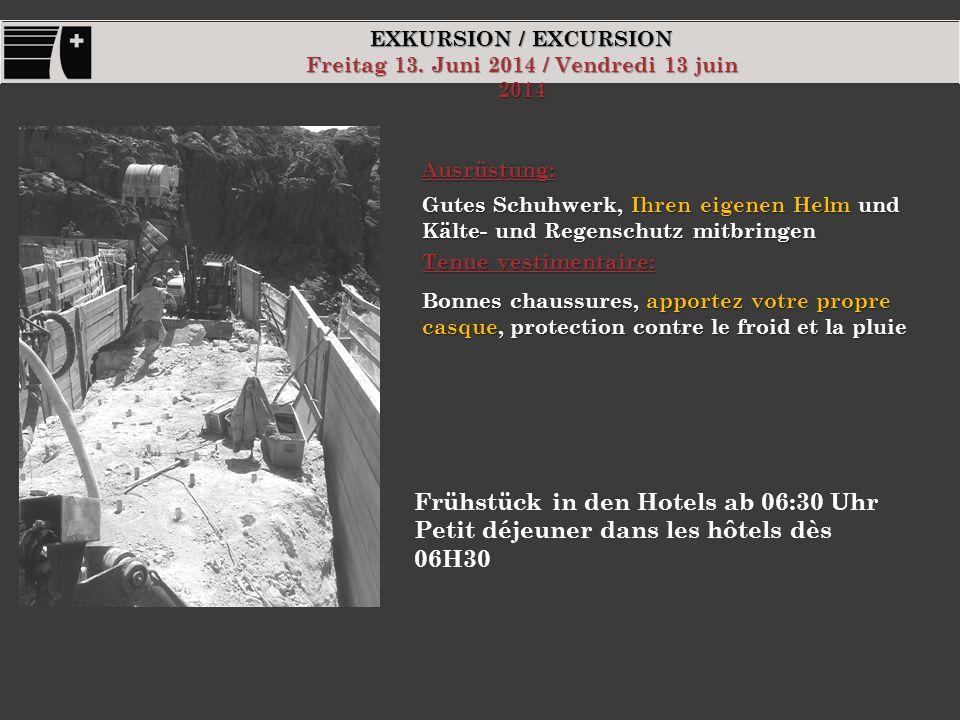 EXKURSION / EXCURSION Freitag 13.