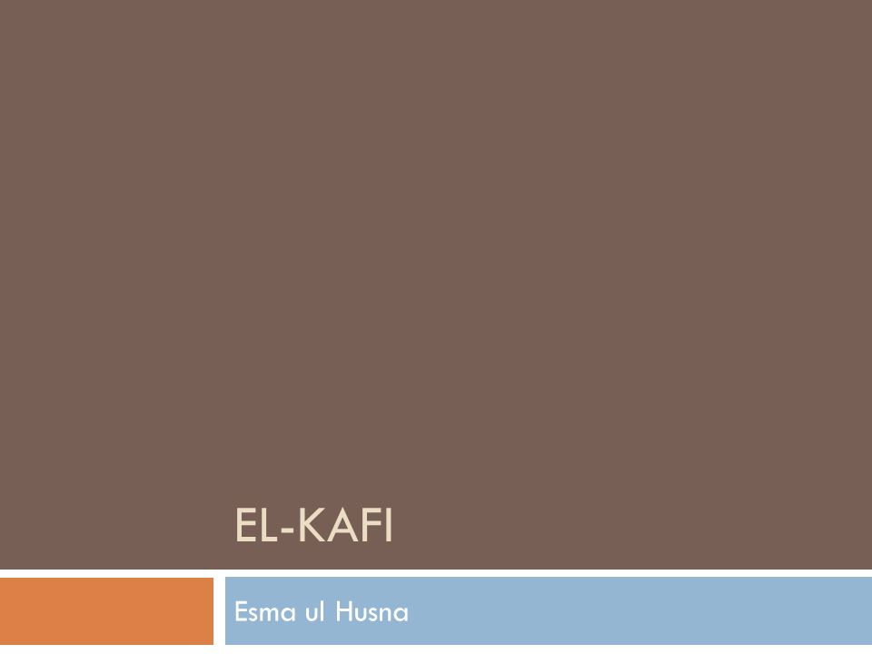 EL-KAFI Esma ul Husna