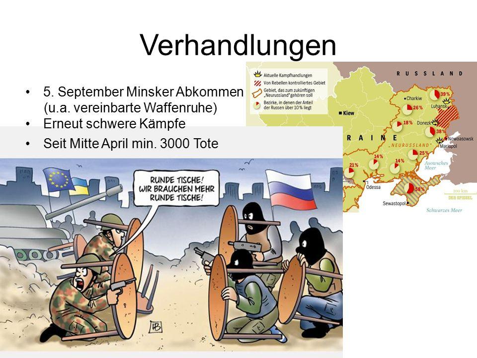 Verhandlungen 5. September Minsker Abkommen (u.a.
