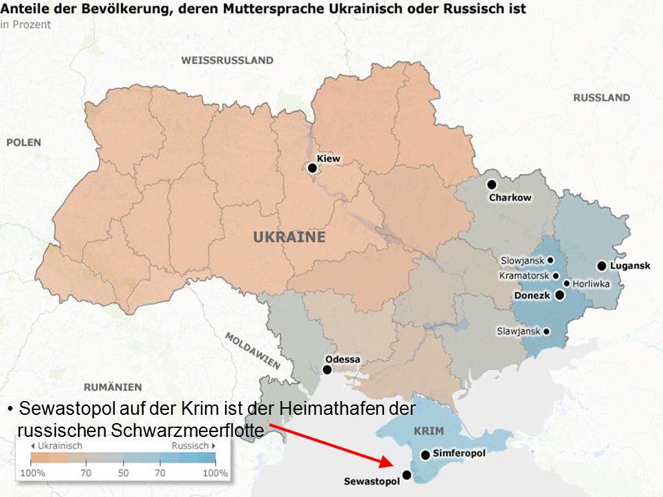 Sewastopol auf der Krim ist der Heimathafen der russischen Schwarzmeerflotte