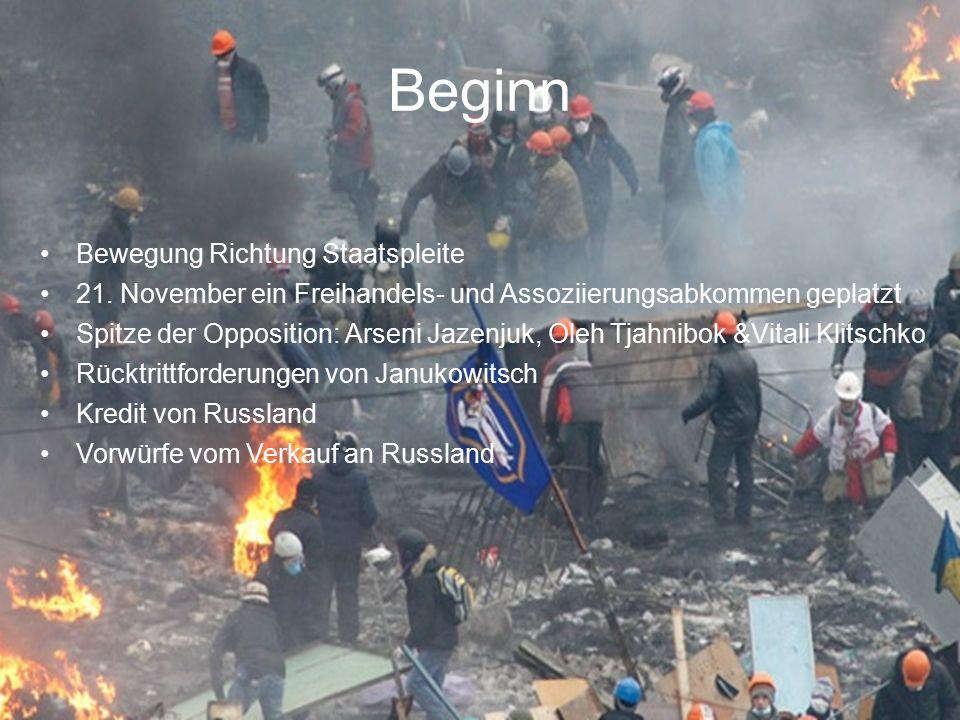 Weiterer Ablauf Eskalation der Proteste in der Nacht auf den 22.