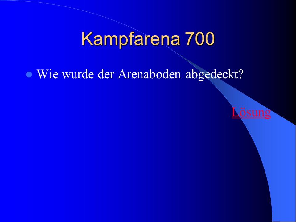Kampfarena 700 Wie wurde der Arenaboden abgedeckt Lösung