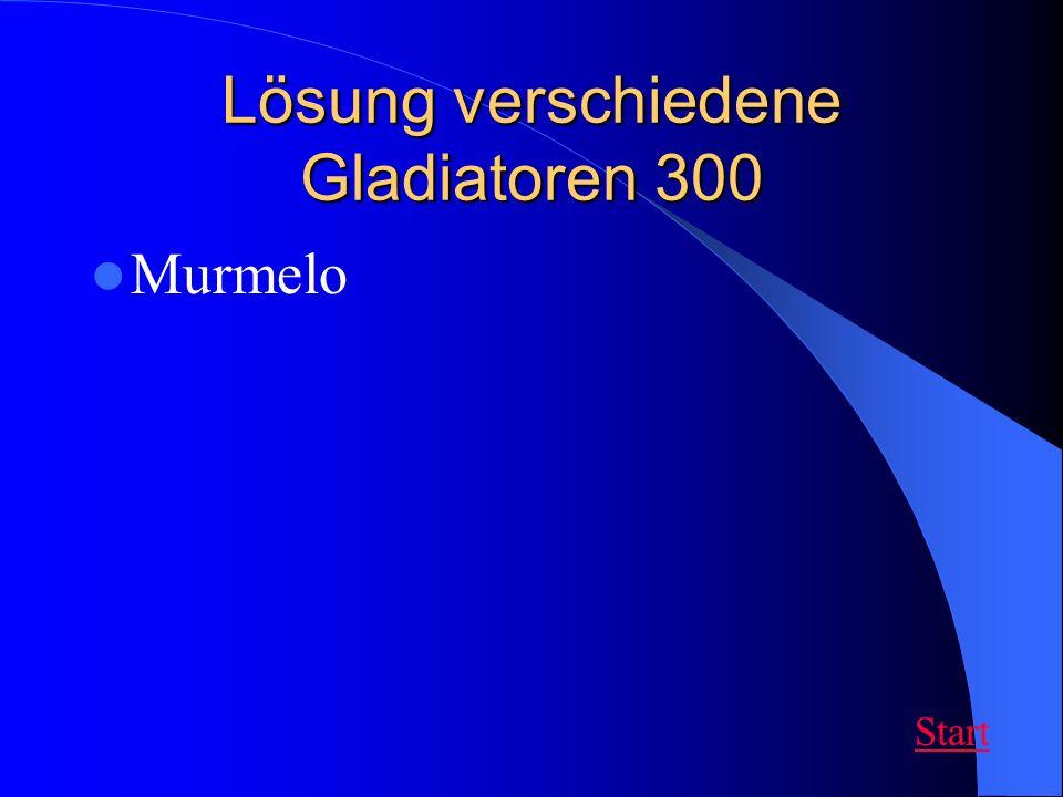 Lösung verschiedene Gladiatoren 300 Murmelo Start