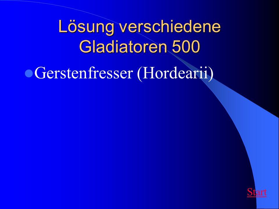 Lösung verschiedene Gladiatoren 500 Gerstenfresser (Hordearii) Start